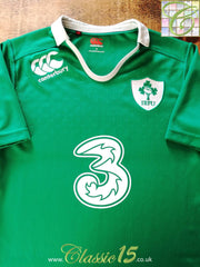 2014/15 Ireland Home Pro-Fit Rugby Shirt (S)