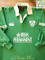 2000/01 Ireland Home Rugby Shirt. (XL)
