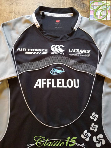 2007/08 Aviron Bayonnais Away Pro-Fit Rugby Shirt (S)