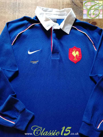 2001/02 France Home 'Strasbourg' Rugby Shirt. (M)