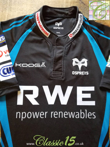 2011/12 Ospreys Home Pro-Fit Rugby Shirt (S)
