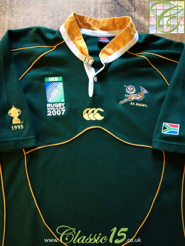 2007 South Africa Home World Cup Rugby Shirt (XXL)