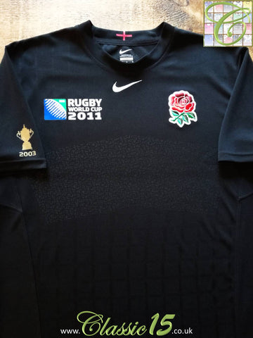 2011 England Away World Cup Pro-Fit Rugby Shirt (L)