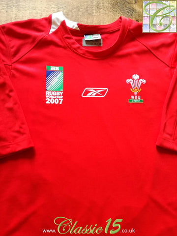 2007 Wales Home World Cup Pro-Fit Rugby Shirt (L)