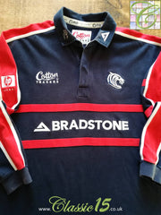 2002/03 Leicester Tigers Leisure Rugby Shirt. Navy (XL)