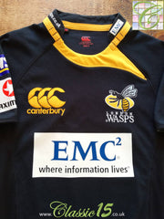 0a584265b97 2009/10 London Wasps Home Player Issue Rugby Shirt (M)