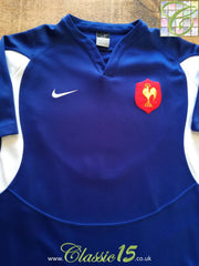 2005/06 France Home Pro-Fit Rugby Shirt (M)