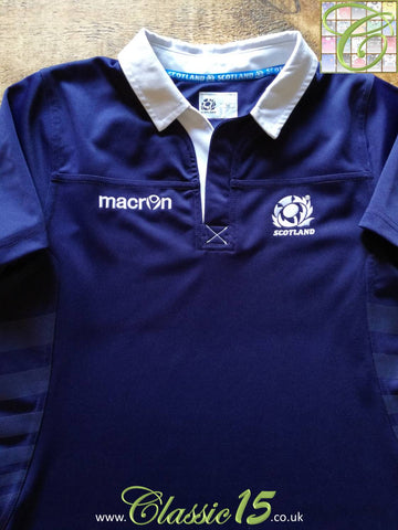 2013/14 Scotland Home Pro-Fit Rugby Shirt. (Size 14)
