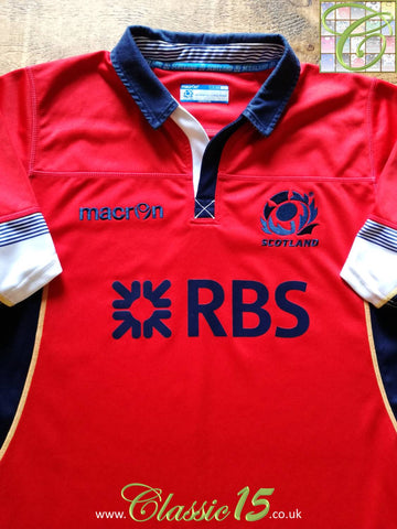 2014/15 Scotland Away Rugby Shirt (XXL)