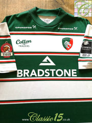 2007/08 Leicester Tigers Home Premiership Player Issue Rugby Shirt (XL)