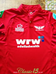 2009/10 Scarlets Home Rugby Shirt (XXL)