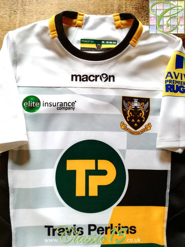 2016/17 Northampton Saints Away Premiership Player Specification Rugby Shirt (L)