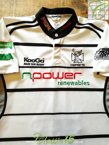 2006/07 Ospreys Away Rugby Shirt (XXL)