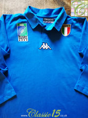 2003 Italy Home World Cup Rugby Shirt. (L)