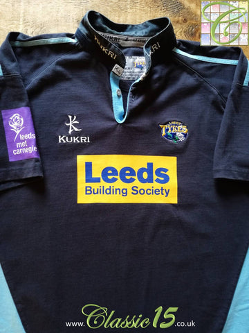 2005/06 Leeds Tykes Away Rugby Shirt (S)