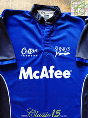2005/06 Sale Sharks Rugby Training Shirt (L)