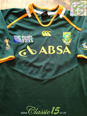 2011 South Africa Home World Cup Pro-Fit Rugby Shirt. (XXL)