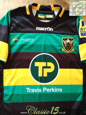 2016/17 Northampton Saints Home Premiership Rugby Shirt (S)