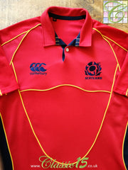 2007/08 Scotland Rugby Training Shirt Red (L)