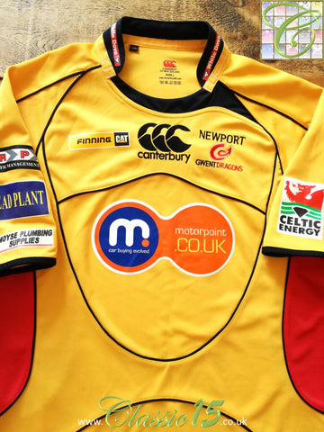 2008/09 Newport Gwent Dragons Away Rugby Shirt (L)