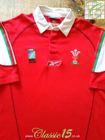 2003 Wales Home World Cup Rugby Shirt (M)