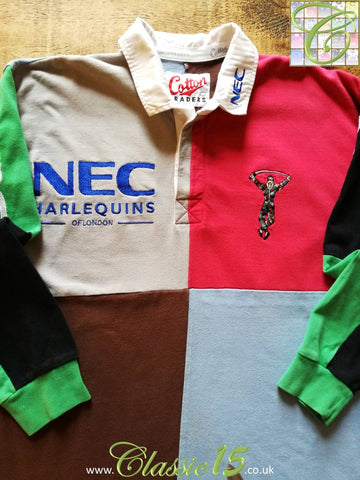 1996/97 Harlequins Home Rugby Shirt. (L)
