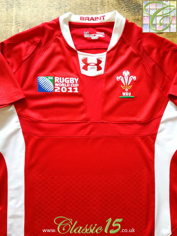 2011 Wales Home World Cup Pro-Fit Rugby Shirt (L)