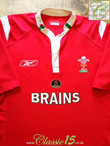 2004/05 Wales Home Pro-Fit Rugby Shirt (XL)