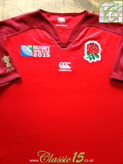 2015 England Away World Cup Pro-Fit Rugby Shirt (M)