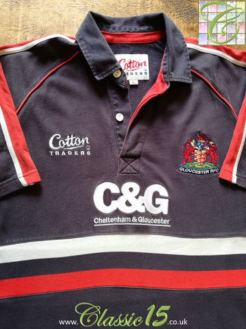 2003/04 Gloucester Leisure Rugby Shirt Navy (L)