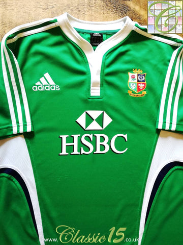 2009 British & Irish Lions Rugby Training Shirt Green (L)