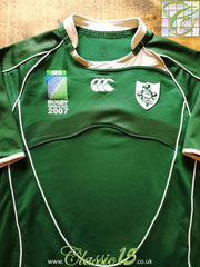 2007 Ireland Home World Cup Pro-Fit Rugby Shirt (M)