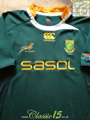 2009/10 South Africa Home Pro-Fit Supporters Rugby Shirt. (M)
