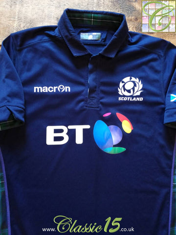 2015/16 Scotland Home Pro-Fit Rugby Shirt (L)