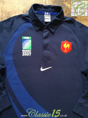 2007 France Home World Cup Rugby Shirt. (XL)