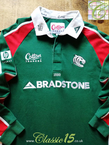 2003/04 Leicester Tigers Home Rugby Shirt. (L)