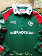 2003/04 Leicester Tigers Home Rugby Shirt. (M)