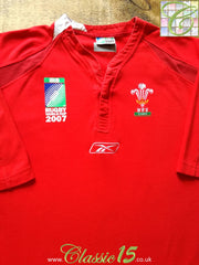 2007 Wales Home World Cup Rugby Shirt (L)