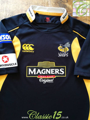 2007/08 London Wasps Home Pro-Fit Rugby Shirt. (M)