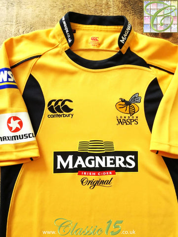 2007/08 London Wasps Away Pro-Fit Rugby Shirt. (S)