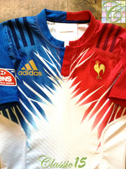2015/16 France Away Player Issue Rugby Sevens Shirt (M) (6)