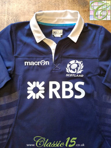 2013/14 Scotland Home Player Issue Rugby Shirt (XL)