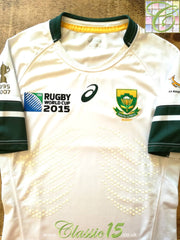 2015 South Africa Away World Cup Pro-Fit Rugby Shirt (S)