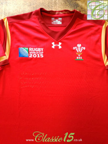 2015 Wales Home World Cup Pro-Fit Rugby Shirt (L) (Loose)
