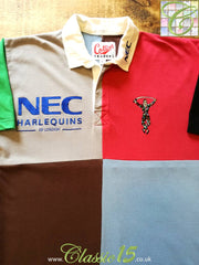 1996/97 Harlequins Home Rugby Shirt (L)