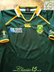 2011 South Africa Home World Cup Pro-Fit Rugby Shirt (L)