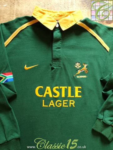 2001/02 South Africa Home Rugby Shirt. (S)
