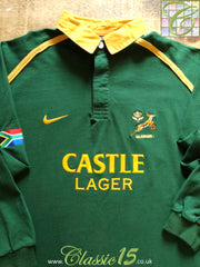 2001/02 South Africa Home Rugby Shirt. (L)