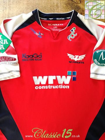 2008/09 Scarlets European Cup Rugby Shirt (L)