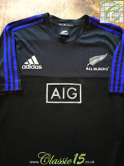2016 New Zealand Warm-Up Rugby Shirt (M)